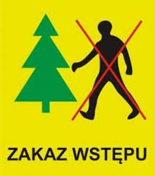Zakaz wstępu do lasu !